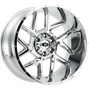 4 20x10 Chrome Wheel Vision Sliver 360 8x170 25