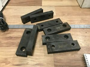 4 Pair Of Usa Made 5 Steel Vise Jaws Kurt Other