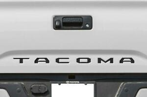 Black Tailgate Insert Letters Decal Vinyl Stickers For Toyota Tacoma 2016 2020