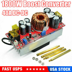 Adjustable 1800w 40a Dc dc Boost Converter Step Up Power Supply Module Constant