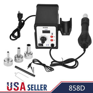 858d 700w Electric Hot Air Heat G Un Soldering Station Set Desoldering Tool Led