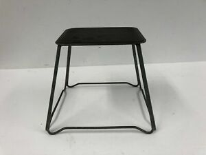 Vintage Metal Milking Stool Country Foot Rest Low Farmhouse Old Industrial Milk