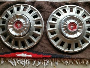 1968 Mustang Hubcaps Wheelcovers 14 Inch 2 Original Good Condition