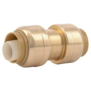 Sharkbite 1 2 Push to connect Brass Straight Coupling Fitting Pex Copper Cpvc