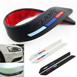 Rubber Front Rear Car Wheel Bumper Scratch Protector Strip Guard Corner Sticker