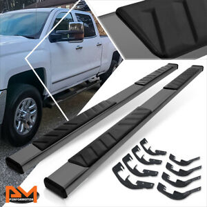 For 07 19 Silverado sierra Crew Cab 5 Side Step Nerf Bar Running Board Black