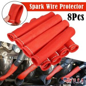 New 2500 Spark Plug Wire Boots Protectors Sleeve Heat Shield Cover For Bbc Sbc
