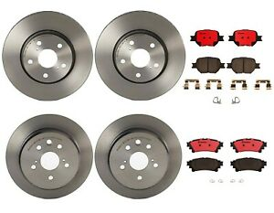 Brembo Front And Rear Brake Kit Disc Rotors Ceramic Pads For Lexus Is250 14 15