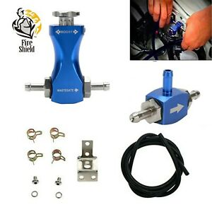 Manual Turbo Boost Controller Control Valve Kit Petrol Diesel Adjustable Blue