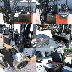 Toyota 8fbcu30 2011 6000 Lbs Capacity Great 4 Wheel Electric Forklift
