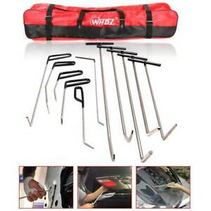 11pcs Tools Push Rods Dent Paintless Repair Hail Removal Puller Whale Tail Set