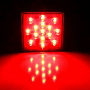 Red Lens 15 Led Brake Light Trailer Hitch Cover Fit Towing Hauling 2 Inch