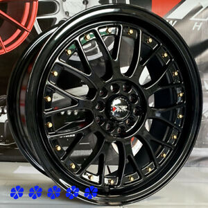 Xxr 521 17 X7 Gloss Black Rims Wheels 4x100 00 06 20 Toyota Yaris S Le Prius C