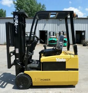 Yale Erp040th 2007 4000 Lbs Capacity Great 3 Wheel Electric Forklift