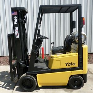 Yale Model Glc030bf 2000 3000 Lbs Capacity Great Cushion Tire Forklift