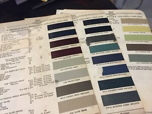 1949 1950 Lincoln Mercury Paint Chips Chart