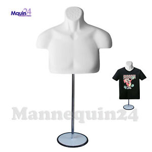 Male Torso Mannequin Body Form Chest Long White Men Form stand hanging Hook