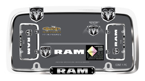 License Plate Frame Tag Dodge Ram Logo Chrome For Auto Car Truck Brand New