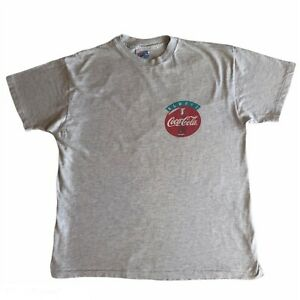 Hanes Beefy Vintage Coca-Cola T-shirt Single Stitched L Made In USA