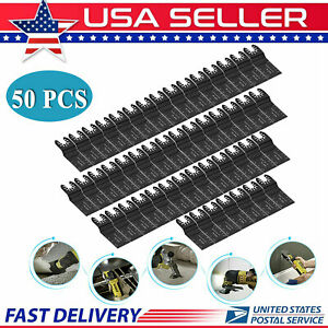 50 Pcs Oscillating Multi Tool Saw Blades For Fein Milwaukee Porter Cable Makita