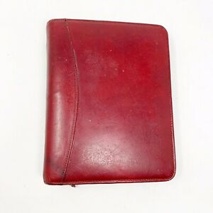 Franklin Covey Full Grain Leather Planner Binder Classic 7 Rings