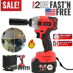 1 2 16800mah Electric Brushless Cordless Impact Wrench High Torque Drill Tool