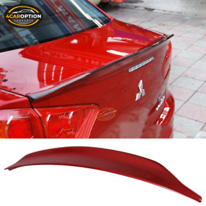 Fits 08 17 Lancer Evo X Jdm Duckbill Trunk Spoiler Painted Rally Red Metallic