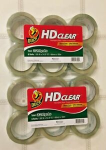 Duck Brand Hd Clear Packaging Tape 1 88 In X 54 6 Yds clear Two 6 pack