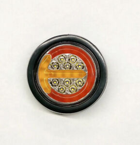 Round 4 Red Amber Led Truck Trailer Tail Lights Rear Stop Brake Turnsignal