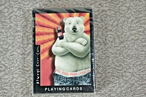 1997 Collectible Coca Cola Playing Cards - Polar Bear - Sealed with Tax Stamp