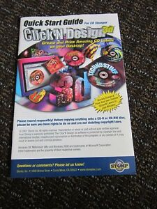 Cd Stomper Instruction Guide Only Paper Booklet 2002 Label Printing Quick Start
