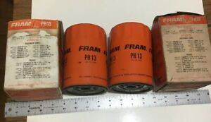 Vintage Fram Ph13 Oil Filter Unused In Original Box 2 Pieces Made In The Usa