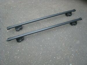 Thule Rail Graber Cross Bars W Locks Key Roof Rack Bike ski kayak Rail Grab