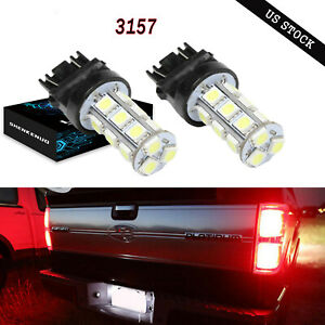 3157 Led Backup Reverse Light Bulbs Red For Chevy Silverado 1500 1999 2013