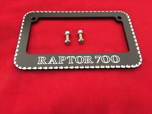 Yamaha Raptor700 Atv Bello Amazing License Plate Frame Engraved With Raptor700