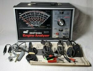 Sears Craftsman Professional Quality Engine Analyzer W Accessories Cables Box