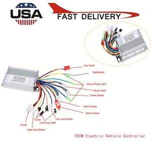 36v 48v 350w Electric Bicycle Bike Scooter Brushless Dc Motor Speed Controller
