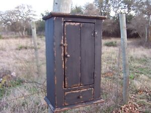 Primitive Bathroom Medicine Wall Hanging Cabinet Cupboard Painted Country Rustic
