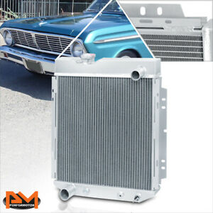 For 65 66 Ford Mustang Mercury Comet L6 V8 Aluminum Core 3 Row Cooling Radiator