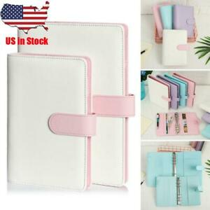 Ring Binder Notebook Weekly Planner Loose Leaf Diary Notebooks Manual Cover