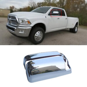 Mirror Covers Trim Fits 2009 2018 Dodge Ram 1500 Top Half W turn Signal Chrome
