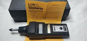 Shimpo Dt 205b Digital Optical Contact Tachometer In Case Tips