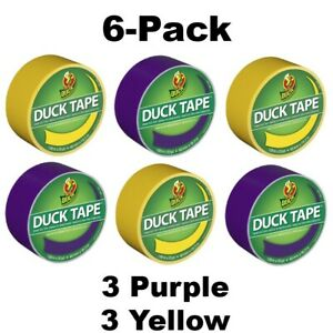 Duck Tape Purple Yellow 1 88 In X 20 Yd 6 pack free Shipping
