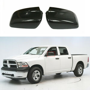 For 2009 2018 Dodge Ram 1500 Mirror Covers No Towing W O Turn Signal Gloss Black
