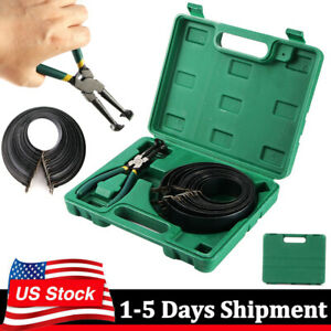 Heavy Duty Auto Engines Piston Ring Compressor Tackle W Plier 14 Bands Set
