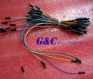 65pcs Male To Male Solderless Flexible Breadboard Jumper Cable Wires For Arduino