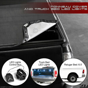 Snap on Tonneau Cover led Lights For 2009 2018 Dodge Ram 6 4 Ft Cab Truck Bed