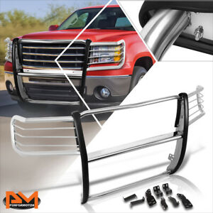 For 07 13 Gmc Sierra 1500 Truck Front Bumper Brush Grille Guard Protector Chrome