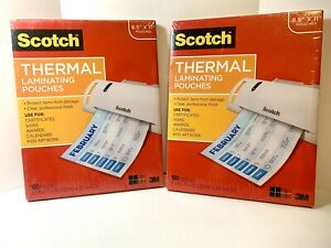 Scotch Thermal Laminating Pouches 8 5 x11 100 Pack New With Factory Seal