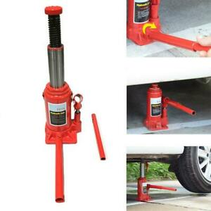 12 Ton Hydraulic Bottle Jack Stands Auto Shop Low Profile Heavy Duty Q235 Steel